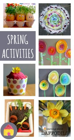 A complete resource of spring activities for children :: spring carfts, art, math, literacy, science and play
