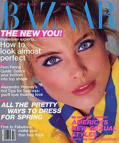 Kim Alexis  -  Bazaar Feb 1985 by Francesco Scavullo