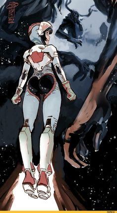 joel27,Joël Jurion, jjfrenchie,artist,art барышня,красивые картинки,Space Girl