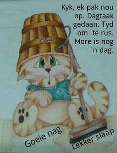 Goeie Nag, Goeie More, Afrikaans, Good Night, Teddy Bear, Messages, Christmas Ornaments, Holiday Decor, Words