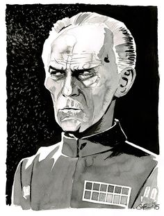 Star Wars  A New Hope  Grand Moff Tarkin by Mygrimmbrother on Etsy