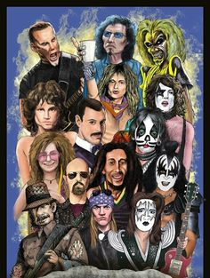 Uploaded by Lew. Find images and videos about kiss, metallica and Guns N Roses on We Heart It - the app to get lost in what you love. Best Rock Bands, Rock And Roll Bands, Heavy Metal Art, Heavy Metal Bands, Arte Punk, Rock Band Posters, Rockn Roll, Chant, Rock Legends