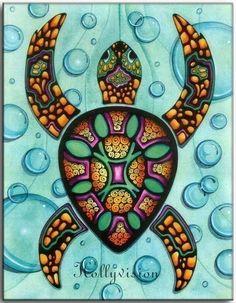 Abstract Sea Turtle Aumakua