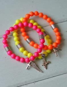Bright colored stackable braclets