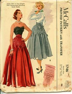 1950's Retro Sewing Pattern  McCall's 1746  by shellmakeyouflip, $62.50