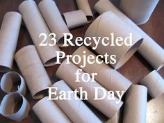 23 kids art projects using recycled materials(for Earth Day? or whenever!)