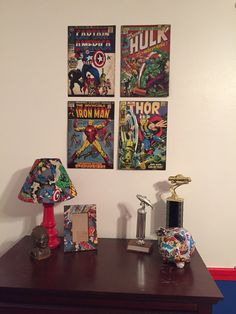 Discover recipes, home ideas, style inspiration and other ideas to try. Comic Themed Room, Creative Inspiration, Room Inspiration, Room Boys, Boy Rooms, Kids Rooms, Bedroom Themes, Bedroom Ideas, Small Game Rooms