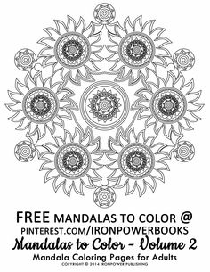 Art Therapy Mandalas to Color for Adults | FREE Printable Advanced Mandala Coloring Page from @ironpowebooks. | For a complete set of Advanced Mandalas visit http://www.amazon.com/Mandalas-Color-Mandala-Coloring-Adults/dp/1495387631 | Please use freely for personal non-commercial use