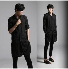Rebelsmarket new designer men long casual shirts  shirts 6