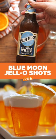 Blue Moon fans: why have a beer when you can throw back these insanely adorable jell-o shots? Get the recipe at Delish.com.