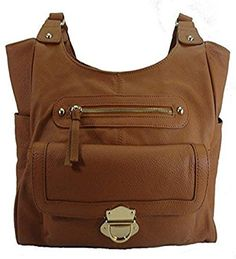 Leather Concealed Carry Gun Purse Left/Right Hand CCW W/Locking Zipper 03Lt Brown >>> Details can be found by clicking on the image.