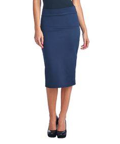 Look at this #zulilyfind! Navy Pencil Skirt #zulilyfinds
