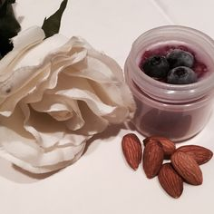 New blueberry almond body scrub! Gently exfoliates while removing oil, dirt and dead skin cells from the skins surface. Leaves skin feeling soft, moist and brightened.