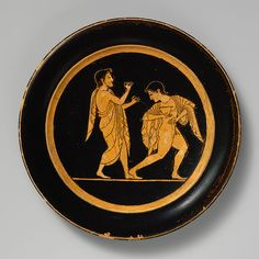 Plate, Archaic, ca. 510 B.C.; red-figure  Attributed to Paseas Greek, Attic Terracotta