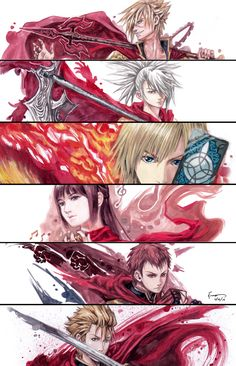Final Fantasy Type 0 - Six Members Of Class Zero by Nick-Ian.deviantart.com on @DeviantArt