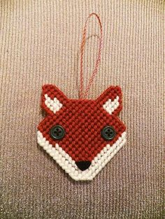 Fox Needlepoint Ornament for plastic canvas