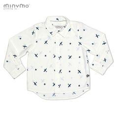 MINYMO eleganka koszula w samoloty DAVE 44 150444