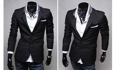 Spring New Style Pocket Applique Design Solid Color Blazer For Men Smart Jackets, Estilo Fashion, Spring New, Sammy Dress, Urban Outfits, Blazers For Men, Applique Designs, Dapper, Casual Looks