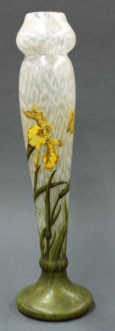 Daum Nancy art glass vase c1905!!! Bebe'!!! Lovely!!!