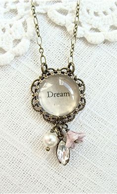 Dream. Antique brass beaded necklace