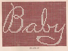 FREE filet crochet charts for baby and toddler crafts