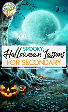 Engage secondary students in meaningful ELA activities during the month of October. These Halloween lessons are sure to provide a spooky treat! #MiddleSchoolELA #HighSchoolELA #HalloweenActivities High School Reading, Middle School Ela, Middle School Classroom, Middle School English, English Lesson Plans, English Lessons, English Language, Language Arts, Students
