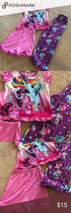 My Little Pony SZ 4T 3-piece pajama set My Little Pony SZ 4T 3-piece pajama set Pajamas Pajama Sets