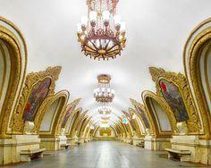 Kiyevsskaya Metro Station (east), Moscow  moscow-metro-station-architecture-russia-bright-future-david-burdeny-8