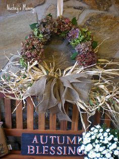 How to make a dried hydrangea wreath @Four Generations One Roof