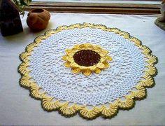 Sunflower Crochet Lace Thread Art  Doily by crochetbymsa on Etsy, $25.95