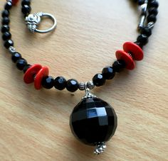 Timeless Elegance! Black Agate necklace-TS51N0063 by Theshobs on Etsy