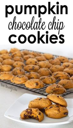 The BEST pumpkin chocolate chip cookies ever! I love finding new pumpkin recipes for the fall. This easy recipe is amazing. My kids love these for an after school treat.