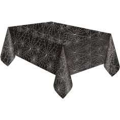 "Black Spider Web Halloween Plastic Tablecloth, 84"" x 54"" ($25) ❤ liked on Polyvore featuring home, kitchen & dining, table linens, black table linens, black tablecloth, plastic tablecloth, halloween table cloth and halloween tablecloths"