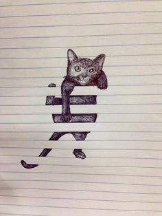 Creative Drawings on Plain Notebook Sheets