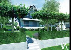 PROJECT / PRIVATE GARDEN 'BRZOZÓWKA' visualisation 'III'  ELEGANCE/ SIMPLYCITY / MINIMALISM Landscape Design, Mansions, House Styles, Home Decor, Decoration Home, Room Decor, Landscape Designs, Villas, Interior Design