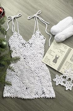 Crochet Bikini Pattern, Crochet Bikini Top, Crochet Clothes For Women, Diy Crochet Clothes, Diy Crochet Dress, Crochet Lace, Crochet Crafts, Crochet Projects, Crochet Designs
