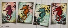 Käsitöitä flamencohame hulmuten - Siiri Viljanen ATC Atc Cards, About Me Blog, Inspirational, Amazing, Inspiration