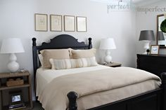 bedroom decorating ideas & chalk paint colors at perfectly imperfect