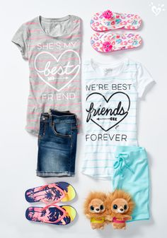 Hers & hers. It just got way easier to swap favorite tees with your bestie.