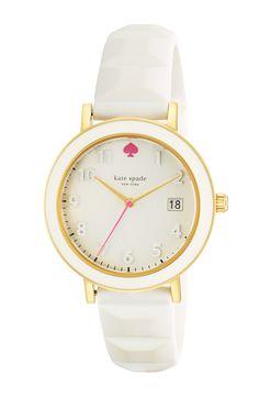 'metro' enamel bezel silicone strap watch, 36mm