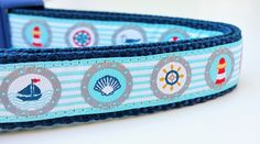 Beach Dog - Dog Collar / Handmade / Adjustable / Pet Accessories / Nautical by StinkyandSweetPea on Etsy