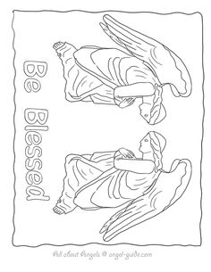 free angel coloring pages angel drawings to print from our black and white angel template - Coloring Pages Beautiful Angels