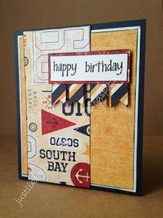 card by Shirley Bernal using CTMH Tommy paper.... (change sentiment)
