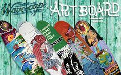 Surfboard art  - onderdeel van het wavescape surffestival is een surfboard tentoonstelling.