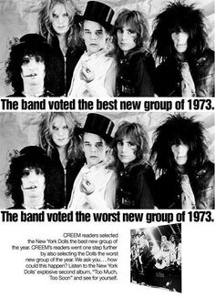 New York Dolls - Voted The Best (& The Worst) Of 1973