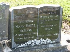 Gertrude Mary (Beryl) Mudford Ogilvie (1905 - 1978) - Find A Grave Photos