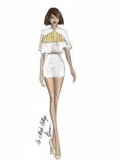 Fashion Illustration of Fashion Design Label- Maticevski- for Mercedes Benz Fashion Week- Australia 2015. #fashionweek #fashionsketch #fashionillustration For the latest Fast Track Fashion Design Courses- visit: http://www.lamodecollege.com