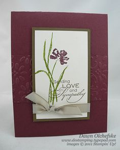 Stampin' Up! Love & Sympathy: 3 Quick Cards - DOstamping with Dawn, Stampin' Up! Demonstrator
