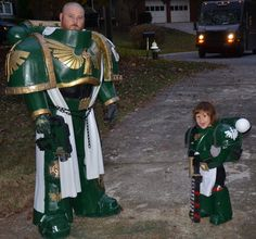 Father & Son Space Marine Cosplay