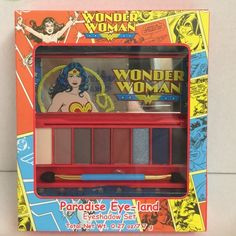 Wonder women Paradise Eye land eyeshadow set. Brand new in the box never been opened or used Limited edition Wonder women Paradise Eye land Eyeshadow set amazing this set .. please do not write any rude or sarcastic comments on my page you will be blockedNo tradeNooo lowering price.No holdsNo pay pal. Makeup Eyeshadow
